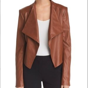 Theory Crossover Paperweight Draped Leather Jacket